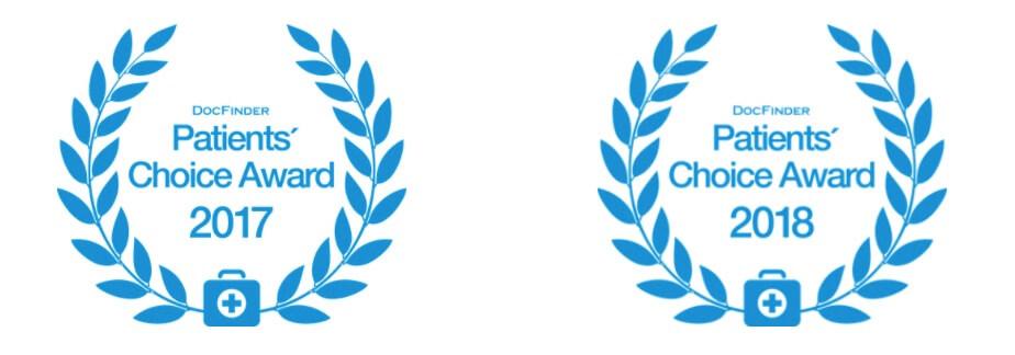 Auszeichnung Patients' Choice Award 2017 und 2018